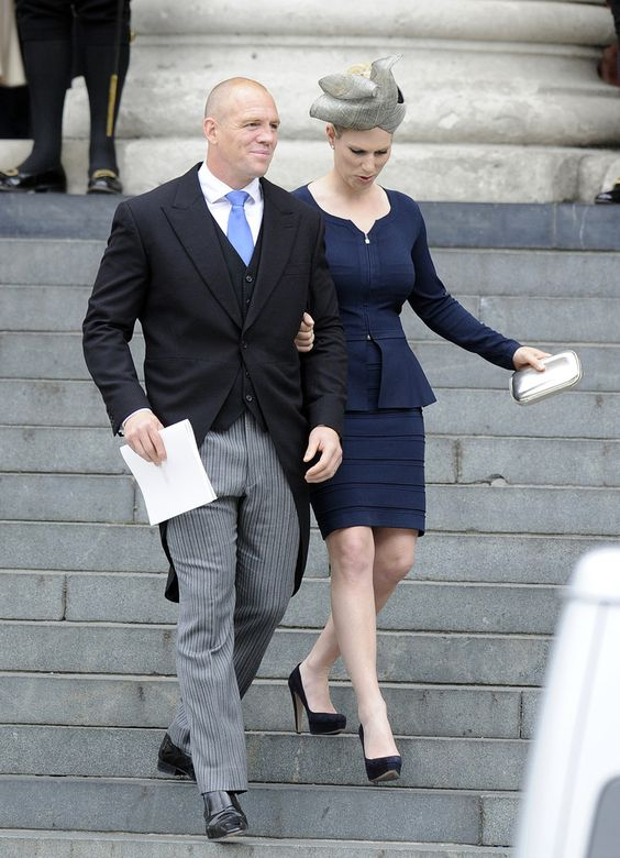Zara Phillips and Mike Tindall at St. Paul's Cathedral for the National Service of Thanksgiving celebrating the Queens Diamond Jubilee on 5 June 2012. The Queen's granddaughter Zara Phillips and her rugby player husband, Mike Tindall, are expecting their first child in the new year.