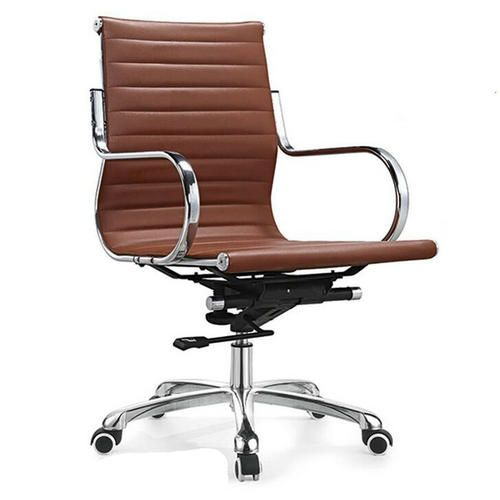 China Mid Back Staff Leather Computer Chair Office Seating_China Staff  Office Chairs U0026 Leisure Seating Factory