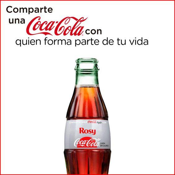 Comparte una Coca-Cola con - ¿Con quién vas a compartir una Coca-Cola?