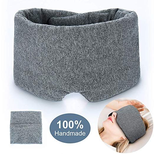 Amazon Com 100 Handmade Cotton Sleep Mask Blackout Comfortable And Breathable Eye Mask For Sleeping Adjustable Sleep Mask Travel Pouch Eye Cover