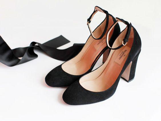Valentino Suede Ankle Strap Block Heels #zimmermanngoesto ...