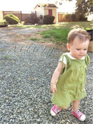 """DIY: """"Little Green Dress"""" redux toddler dress"""