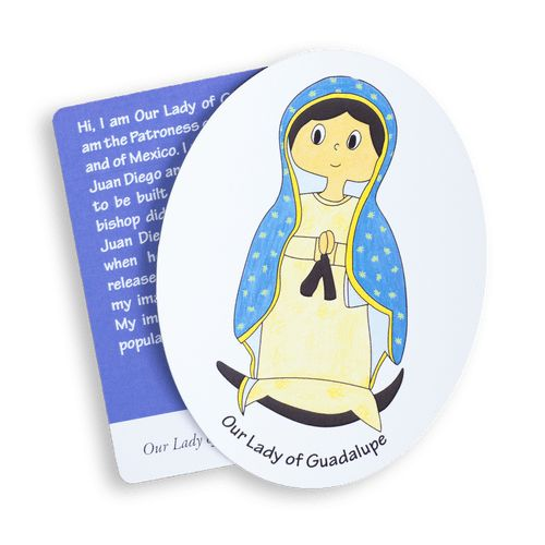 Our Lady of Guadalupe magnet for Catholic kids
