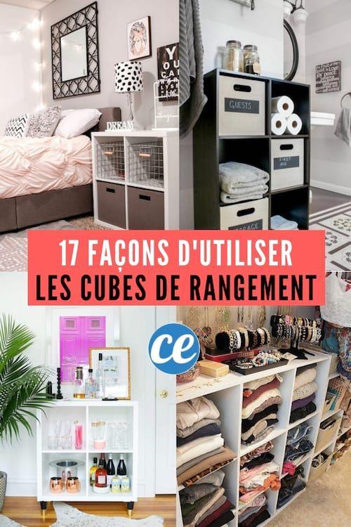 17 Facons Astucieuses D Utiliser Les Cubes De Rangement Cube Rangement Meuble Rangement Chambre Astuce Rangement Chambre