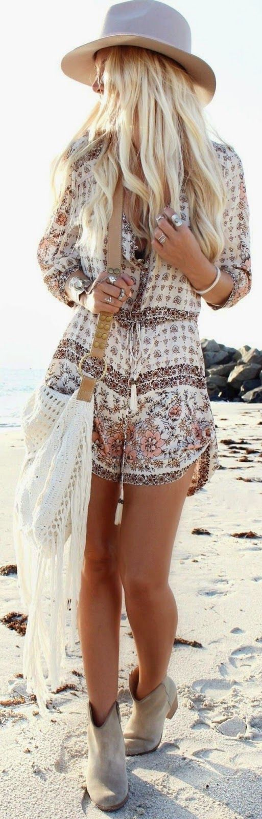 Outfit Para Boho Style Fim De Semana Relaxado Hairstyles Pinterest Rompers Summer