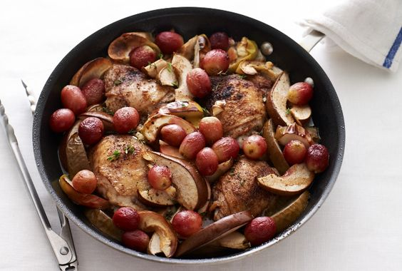 Chicken Thighs with Roasted Winter Fruit - make this for Shabbat dinner