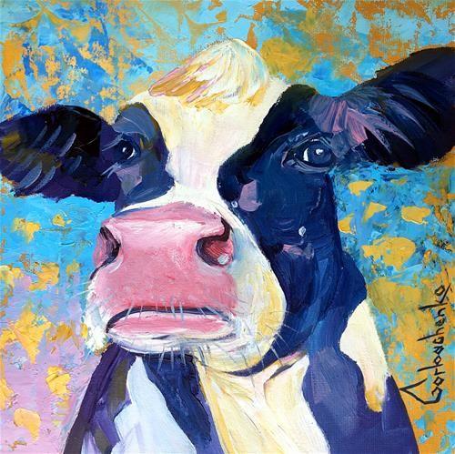 Daily Paintworks Cow Original Fine Art For Sale C Tetiana Gorbachenko In 2020 Original Fine Art Painting Fine Art