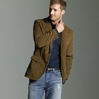 corduroy sport coat with t-shirt and jeans | Annie Kip STYLE Tips