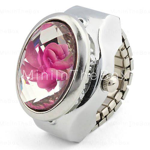 Relógio de anel de metal