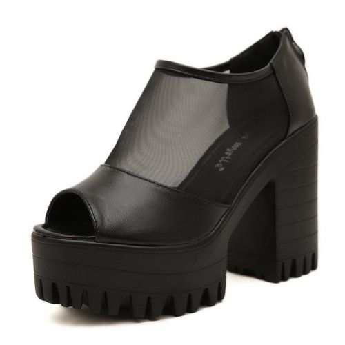 QueenFashion Womens Open Peep High Heel Platform Chunky Heels PU Soft Material Solid Sandals with Zipper, Black, 38 QueenFashion http://www.amazon.com/dp/B00KJ61GTY/ref=cm_sw_r_pi_dp_NmeRtb06YX6YWHX6