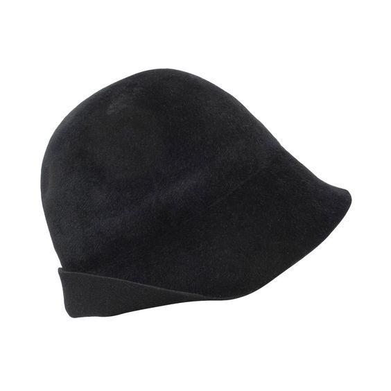 Harun Black Rabbit Hair Hat - Valeur