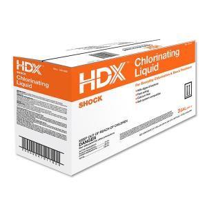Hdx 128 Oz Chlorinating Liquid 3 Pack 30128hdx Pool Shock