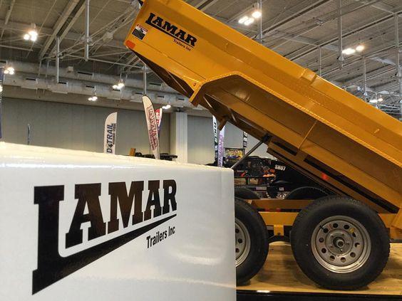 Lamar tank and dump trailers at the 2016 NATDA Trade Show.