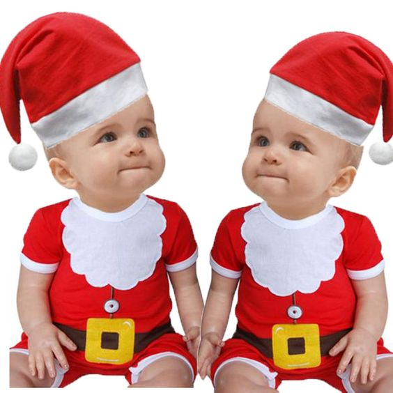 Details about Hot Red Kids Toddler Infant Boys Girls Cute Christmas