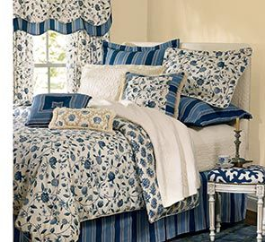 a color scheme in patterns by waverly fabrics - Waverly Bedding