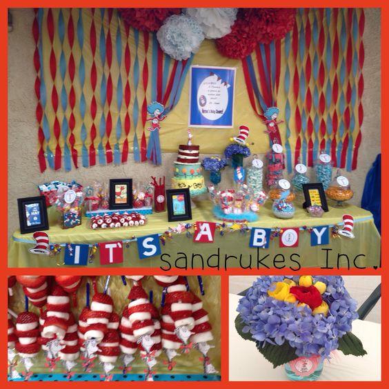 Baby shower ❤️it's a boy dr. Seuss theme
