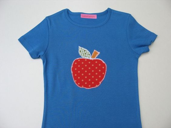 T-Shirts - T-Shirt Apfel in Größe: 134 - ein Designerstück von LotteKlamotte bei DaWanda