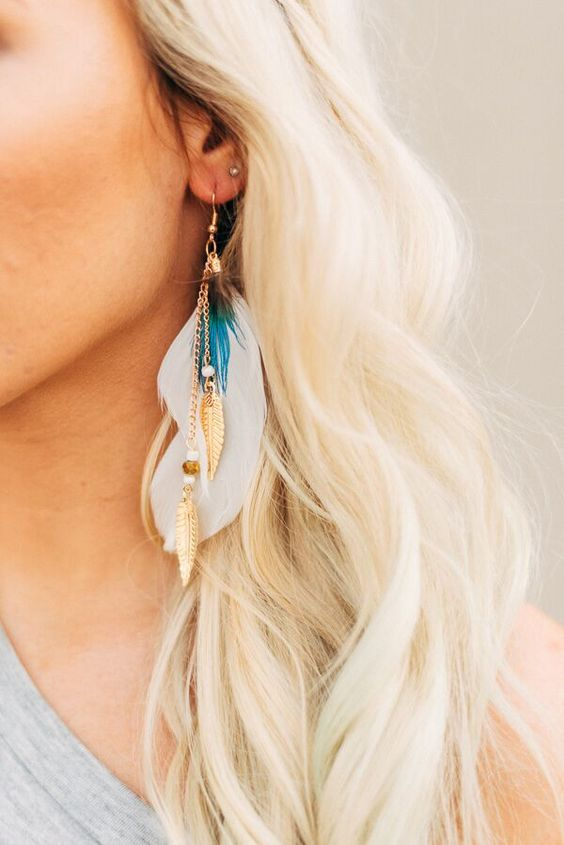 The More Feathers the Better Earrings