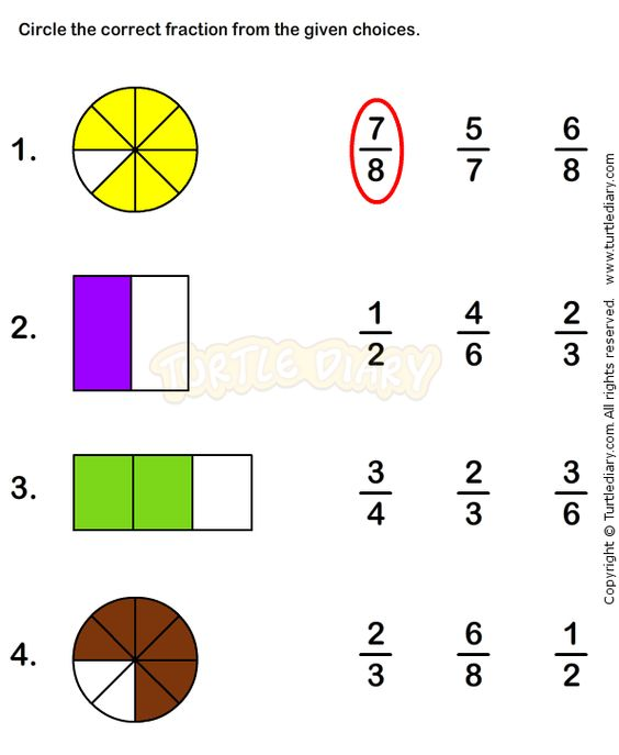 math worksheet : fractions worksheet 4  math worksheets  grade 1 worksheets  : Basic Math Fractions Worksheets