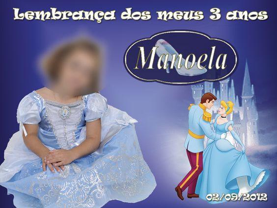 Arte imã de geladeira Cinderela Disney