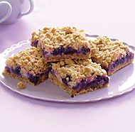 Blueberry Streusel Bars with Lemon-Cream Filling--these are to die for. They take a while to make, but they're worth every second of it.