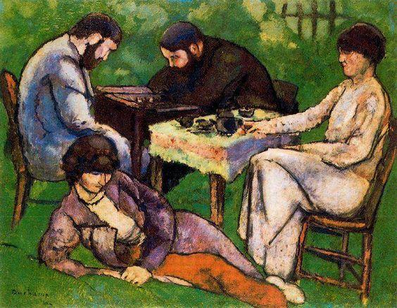 MARCEL DUCHAMP . La partie d'échecs, 1910