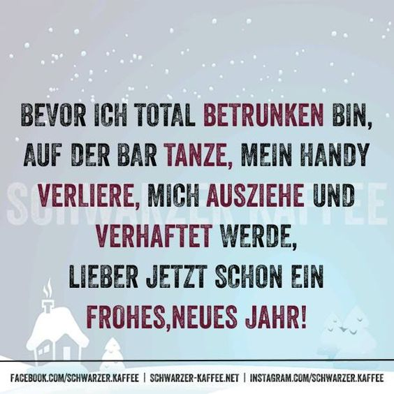 Bevor ich total betrunken bin, auf der Bar tanze, mein Handy verliere, mich ausziehe und verhaftet werde, Lieber jetzt schon ein frohes, neues Jahr. shares