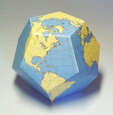 Un globe à colorier et construire Dodecaedre