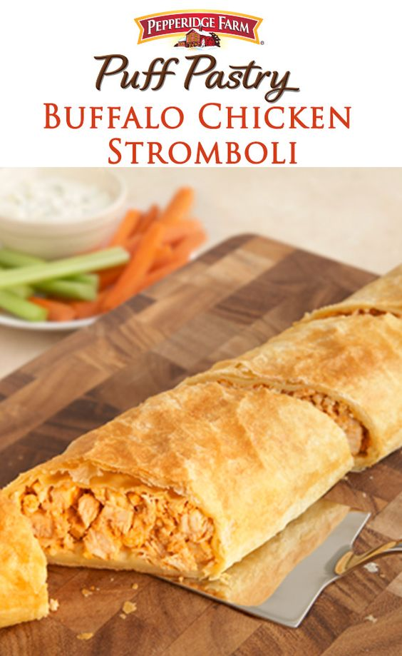 Buffalo Chicken Stromboli. Turn up the heat during March basketball ...