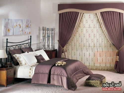 ستائر غرف نوم بسيطة تصاميم اشكال والوان ناعمة قصر الديكور Luxurious Bedrooms Bedroom Design Beautiful Bedroom Designs