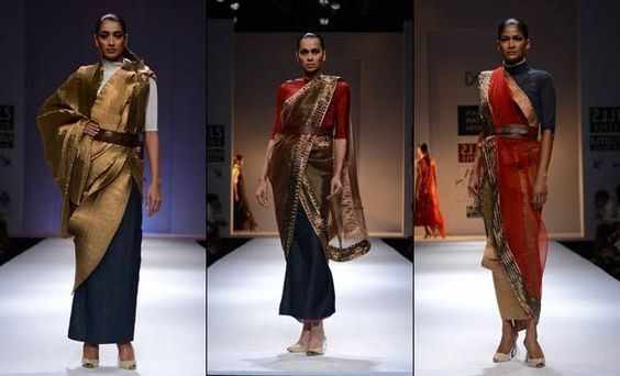 This belted Kiran Uttam Ghosh creation is extremely elegant.