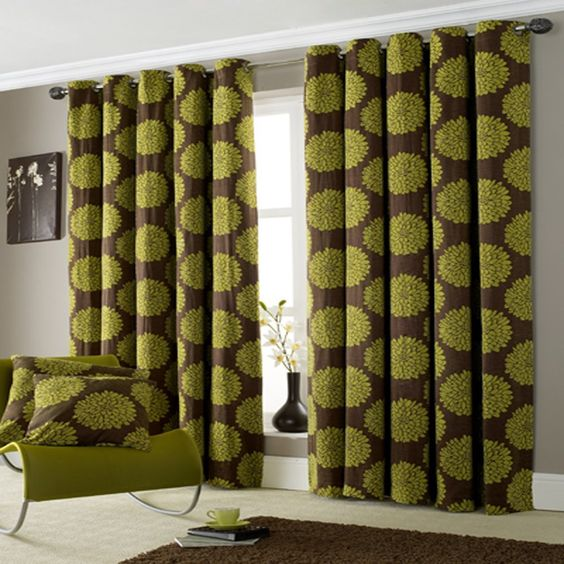 green curtains | ... Curtains › All Curtains › Lime Green Ring Top ...