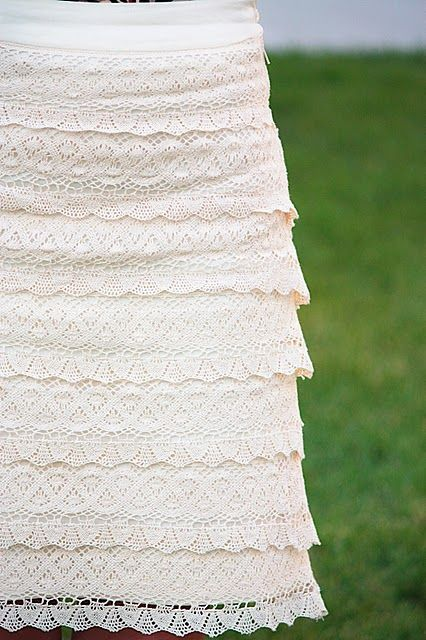 Lace skirt tutorial - OMG!