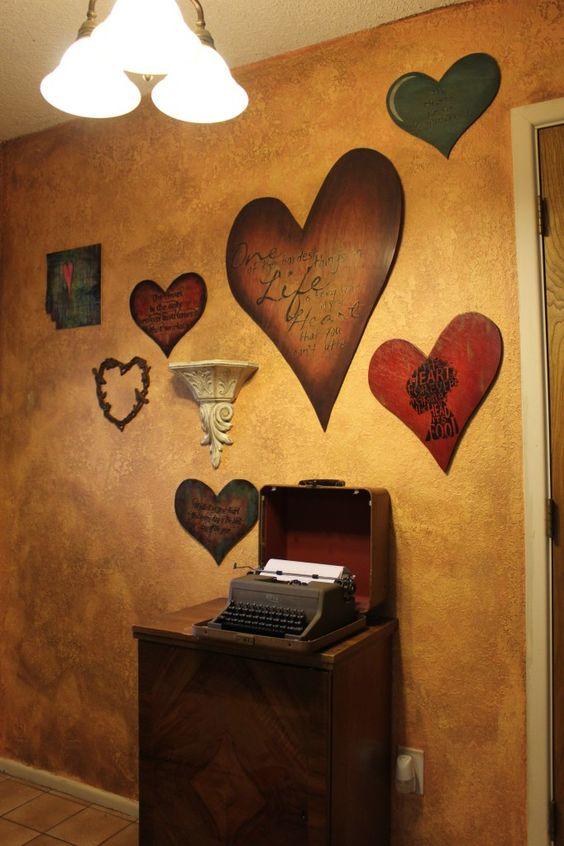 yo quiero una pared con corazones en casa
