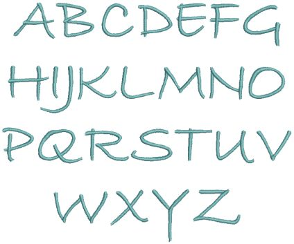 Wilcomfonts Bradley Hand Embroidery Font for Wilcom esa | For the ...