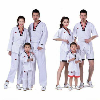 Adult Kids Children Taekwondo TKD Karate Martial Art Suit Uniform V-neck Costume