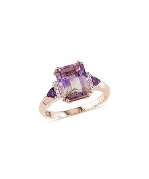 Look at this #zulilyfind! Amethyst & Diamond Square Ring by Delmar #zulilyfinds
