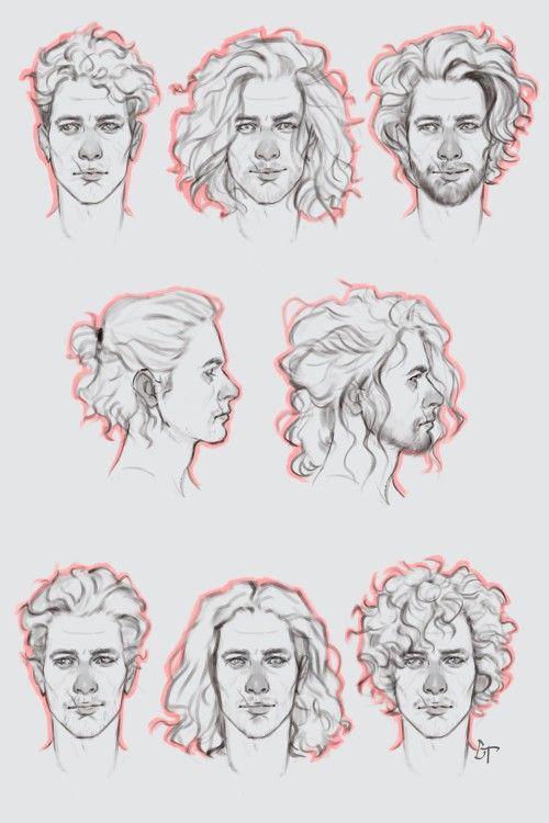 Male Curly Hair Con Imagenes Peinados Dibujos Dibujar Pelo