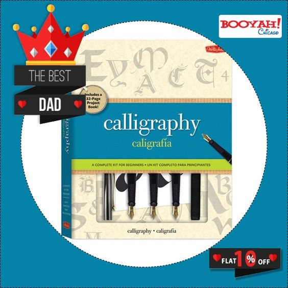 This kit makes it easy to explore the exciting art form of calligraphy. It comes with both materials and comprehensive instructions. Shop Now : http://tinyurl.com/z3tcyjh #FathersDaySale