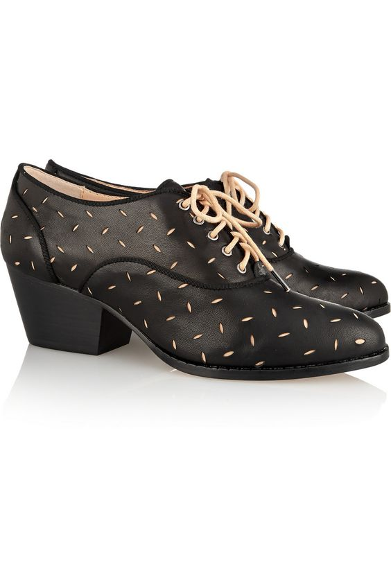 Vivienne Westwood Anglomania Laser-cut leather brogues