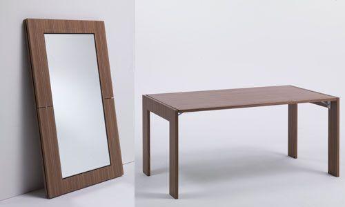 Pin it table/mirror  by www.porada.it