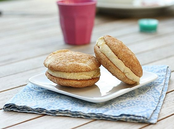 Snickerdoodle Ice-Cream Sandwich (now I need to find a good cinnamon ice cream recipe)