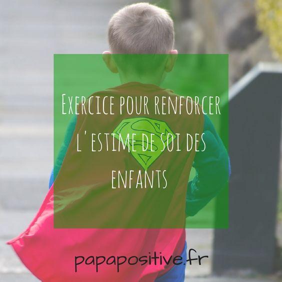 Exercice pour renforcer l'estime de soi des enfants