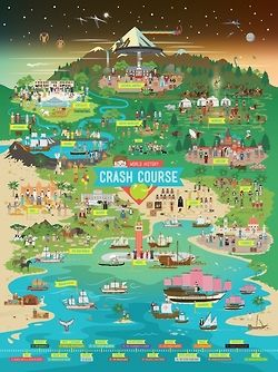 Crash Course is a series of educational videos by John Green on Youtube. Includes U.S. History, Chemistry, World History, Biology, Literature, and Ecology.