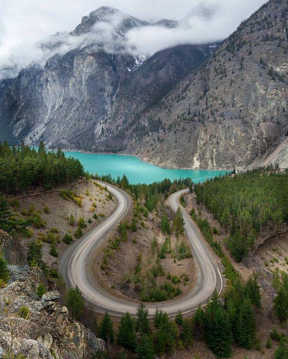 Lake Bc: Duffy Lake Road Between Lilooet And Pemberton, BC