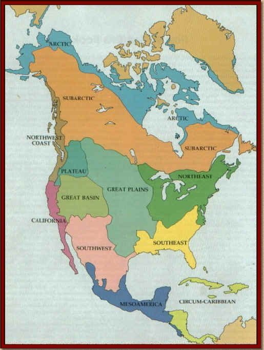 American Tribes That Lived In The Different Regions Of The United - 4 regions of us map
