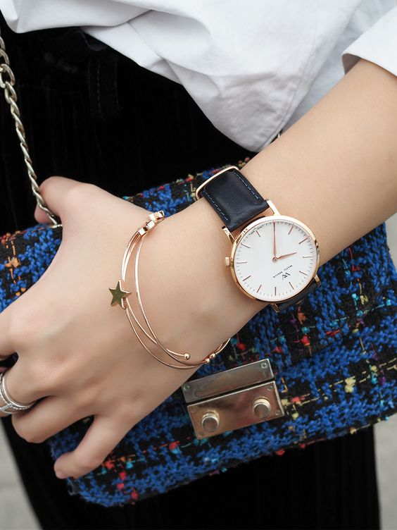 Give your outfit the perfect minimal touch with a WellyMerck watch.