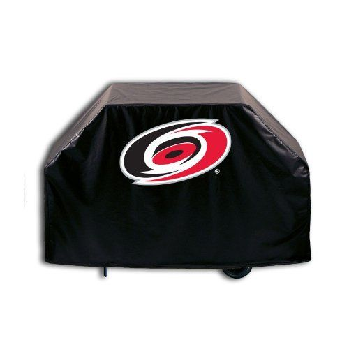 """NHL Carolina Hurricanes 60"""" Grill Cover by Covers By HBS. Save 23 Off!. $36.88. This Carolina Hurricanes Black Grill Cover with the Primary logo is hand-made in the USA; using the finest commercial grade vinyl and utilizing a step-by-step screen print process to give you the most detailed logo possible. Two sizes are available. This product is Officially Licensed, so you can show your Carolina Hurricanes pride in all its glory while protecting your grill from the elements of natur..."""