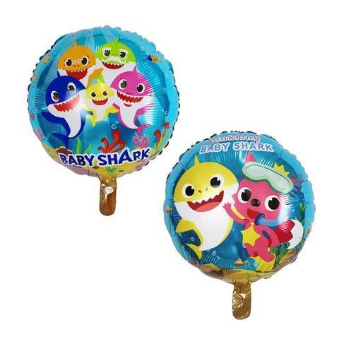 Baby Shark Round Helium Party Balloon