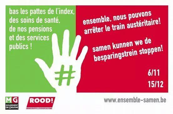 Tous ensemble:Manifestation nationale ces 06 novembre et 15 décembre à Bruxelles - #MouvementdeGauche - #MGbe - #Rood_links